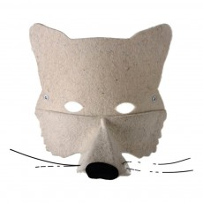 Masque en feutre loup Blanc