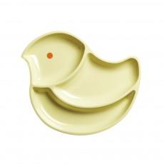 Assiette compartiments oiseau
