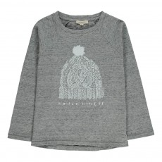 T-shirt Hello Winter Gris chiné