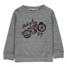 Sweat Motorcycle Gris chiné