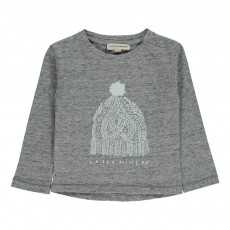 T-shirt Hello Winter Bébé Gris chiné
