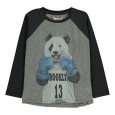 T-Shirt Panda Boxeur Viggo Gris chiné