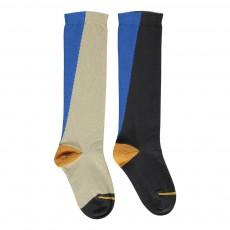 Chaussettes Color Block Mountaineer Bleu