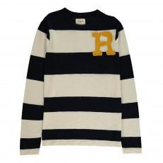"""T-Shirt Rayé """"R"""" Sovic Bleu marine"""