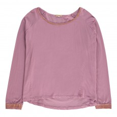 T-Shirt Paillettes Tiki Rose