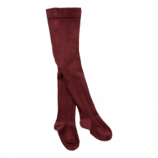 Collants Pois Bordeaux