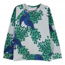 T-shirt Paon Coton Bio ML Bleu