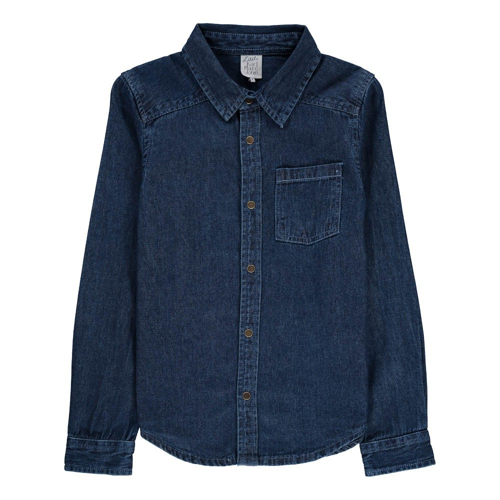chemise clou denim little karl marc john mode ado gar on smallable. Black Bedroom Furniture Sets. Home Design Ideas