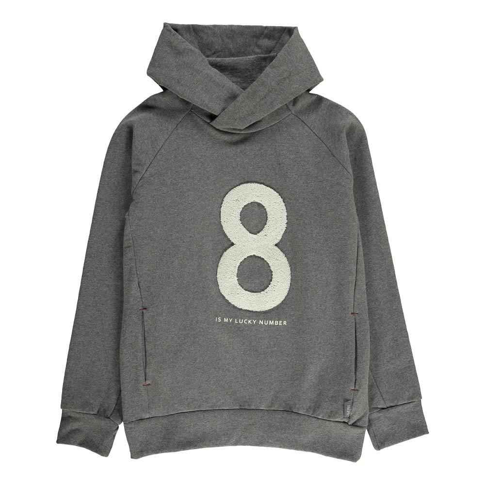 sweat capuche coton bio 8 gris imps elfs mode ado gar on smallable. Black Bedroom Furniture Sets. Home Design Ideas