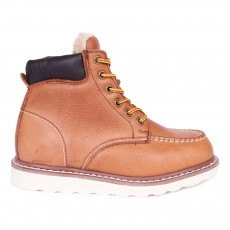 Boots Cuir Fourrée Worker Pad Camel