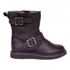 Boots Cuir  Zippées New Biker Noir