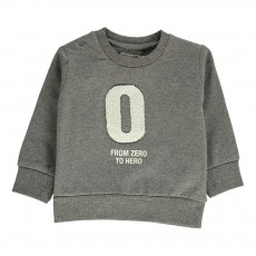 Sweat Coton Bio From 0 to Hero Gris