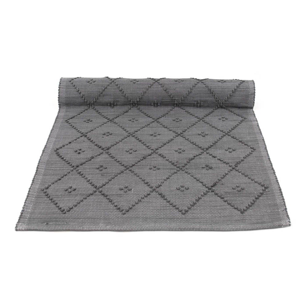 tapis laine diamond gris naco d coration smallable. Black Bedroom Furniture Sets. Home Design Ideas