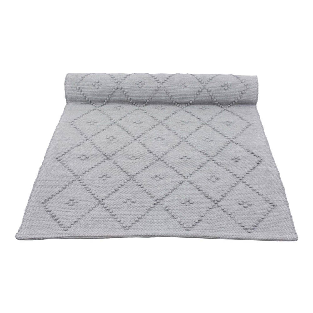 tapis laine diamond gris clair naco d coration smallable. Black Bedroom Furniture Sets. Home Design Ideas