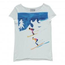 T-Shirt Ski Descente Blanc