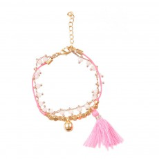 Bracelet Pompon Ticka Rose