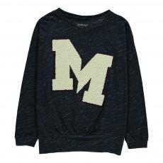 "T-shirt ""M"" Laine Mody Bleu chiné"