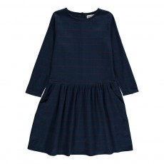 Robe Carreaux Regalo Bleu marine