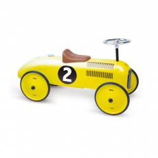 Voiture de course porteur jaune