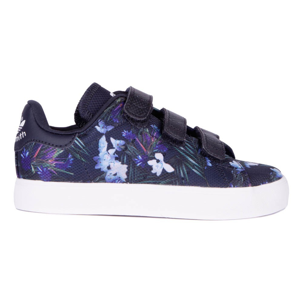 baskets scratch stan smith fleurs bleu marine adidas chaussures smallable. Black Bedroom Furniture Sets. Home Design Ideas