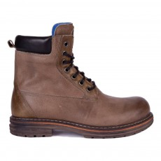 Boots légères en Cuir à Lacets Mustang Taupe