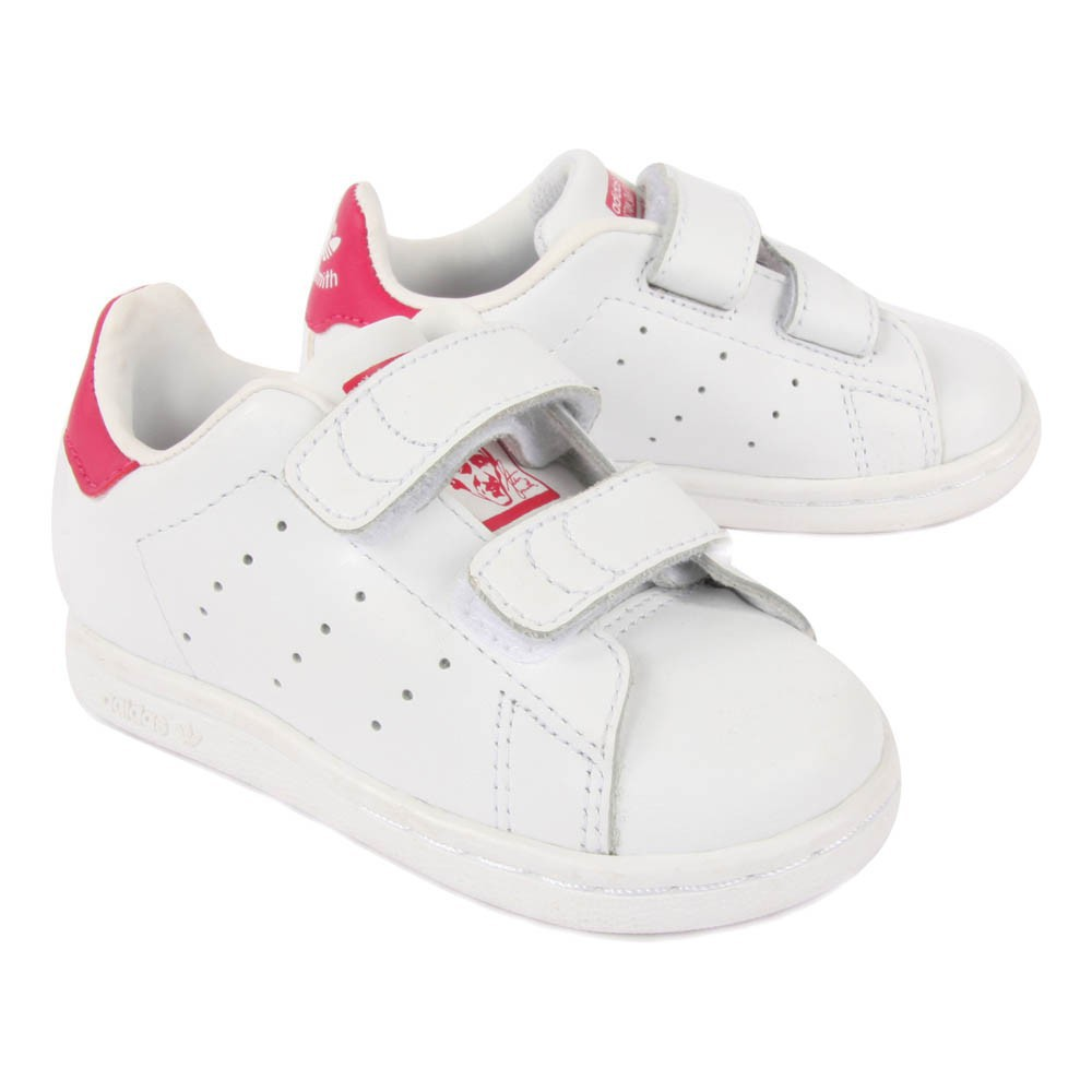 baskets cuir scratchs stan smith rose adidas chaussures enfant smallable. Black Bedroom Furniture Sets. Home Design Ideas