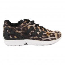 Baskets Lacets ZX Flux Leopard Marron