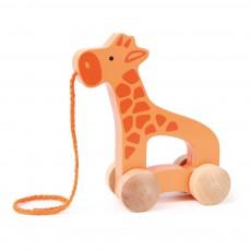 Girafe à tirer Orange