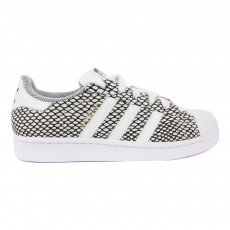 Baskets Lacets Superstar Snake Blanc