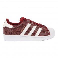 Baskets Lacets Superstar Snake Bordeaux