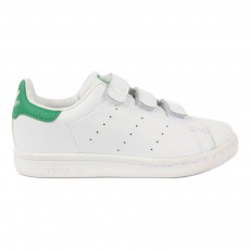 Baskets Cuir Scratchs Stan Smith Vert