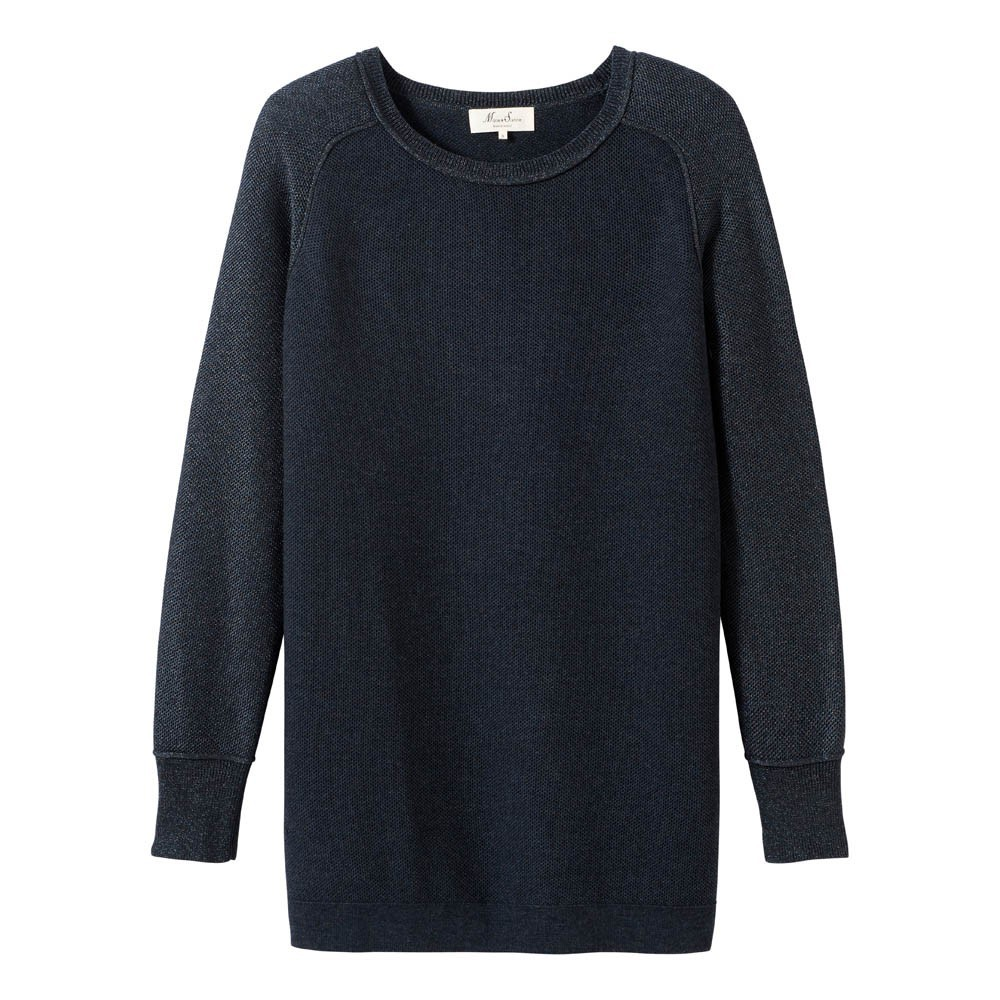 Pull long lurex uriana bleu marine marie sixtine mode ado smallable for Pull long et large