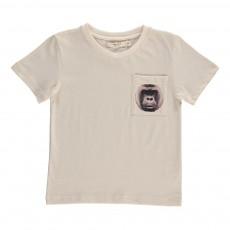 T-Shirt Poche Gorille Ecru