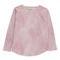 T-Shirt Effet Marbre Rose pâle