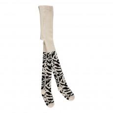 Collants Tigre Blanc