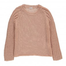 Pull Grosse Maille Lurex Palma Rose