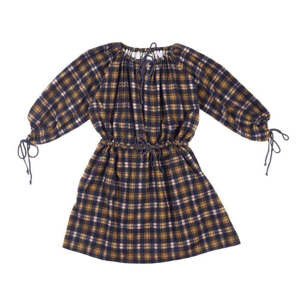 robe tartan hedie bleu marine talc mode enfant smallable. Black Bedroom Furniture Sets. Home Design Ideas