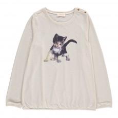 T-Shirt Chaton Missy Ecru