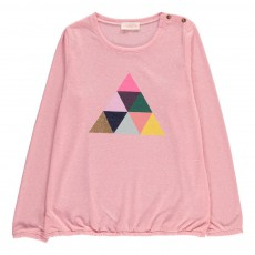 T-Shirt Triangle Rose pâle