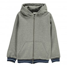 Sweat Capuche Fourré Omar Gris chiné