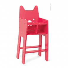 Chaise haute pour poupée Babycat Rouge