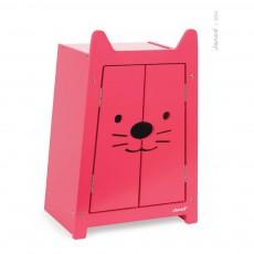 Armoire et cintres pour poupée Babycat Rouge