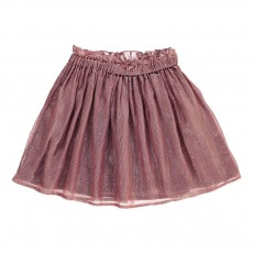 Jupe Rayée Lurex Clochette Vieux Rose