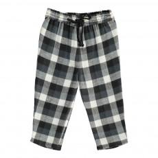 Pantalon Carreaux Valentino Gris