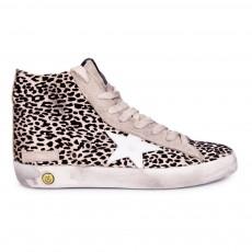 Baskets Zippées Leopard Francy Rose