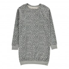 Robe Sweat Leopard Mimi Gris clair