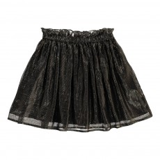 Jupe Rayée Lurex Clochette Noir