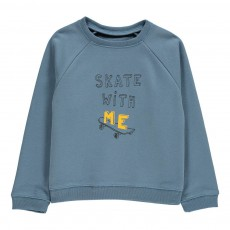 "Sweat ""Skate With Me"" James Bleu nuit"