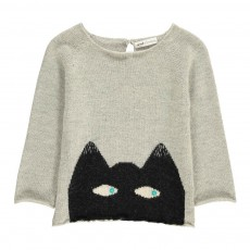 Exclusivité Oeuf x Smallable- Pull Baby Alpaga Chat Gris clair