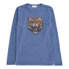 T-Shirt Tiger  Bleu chiné